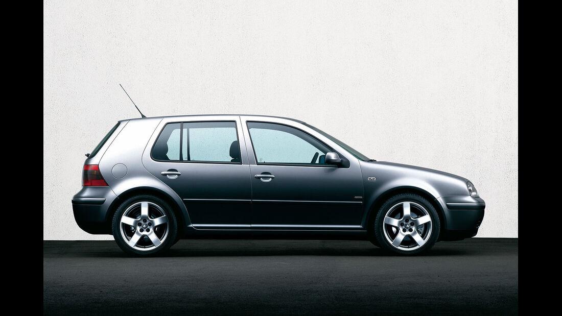 Seitenansicht VW Golf IV