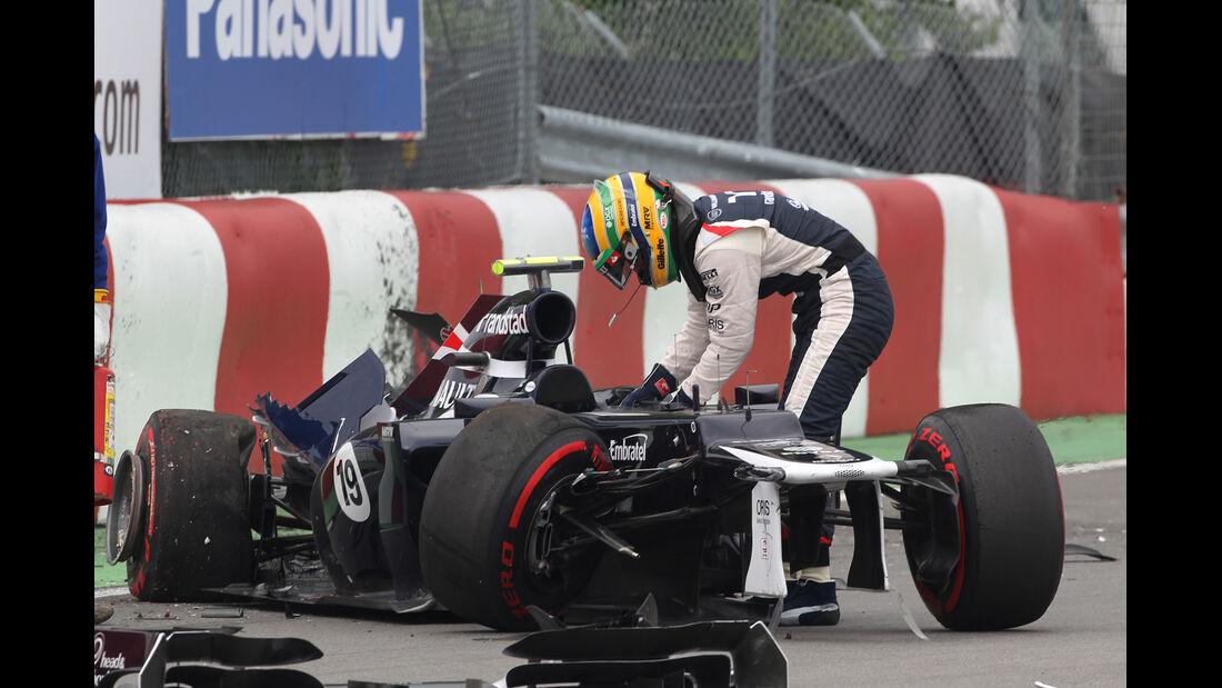 Senna GP Kanada F1 Crashs 2012