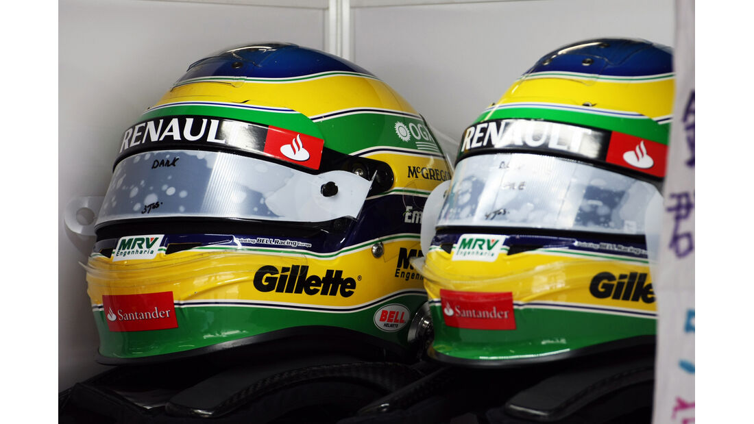 Senna-Helm - Formel 1 - GP Japan - Suzuka - 6. Oktober 2012
