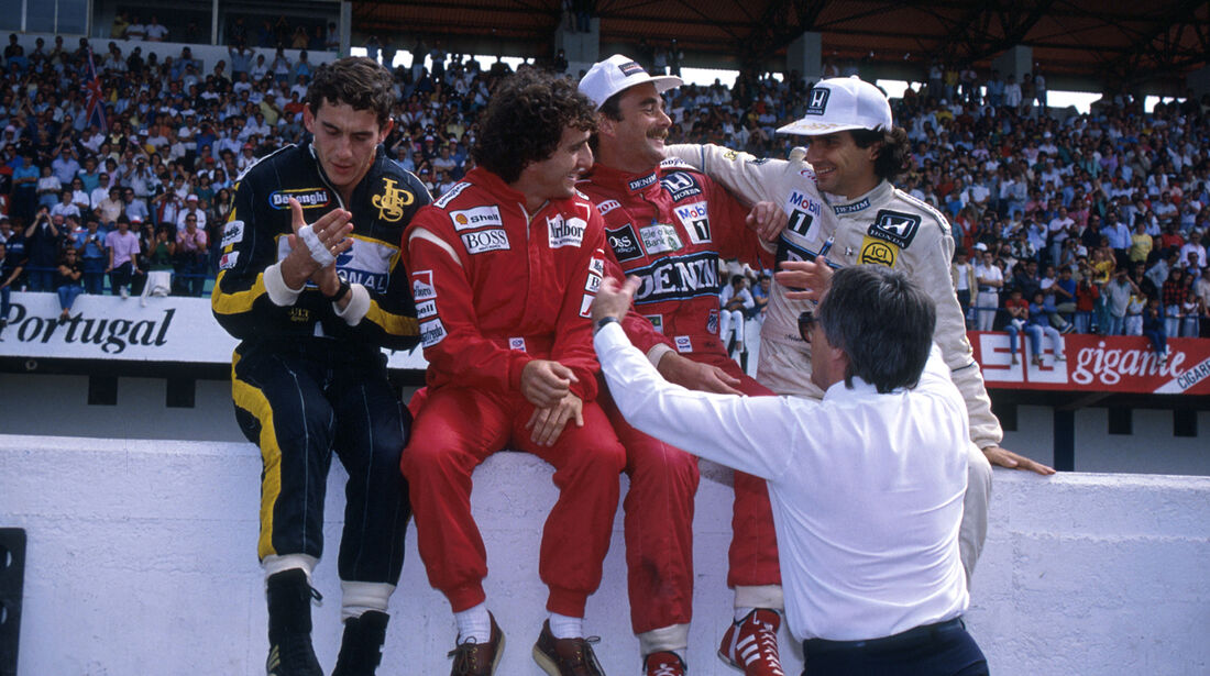 Senna, Prost, Mansell, Piquet - Estoril 1986