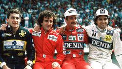 Senna, Prost, Mansell & Piquet - GP Portugal 1986