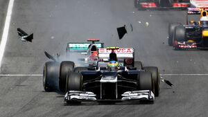 Senna Schumacher GP Spanien 2012