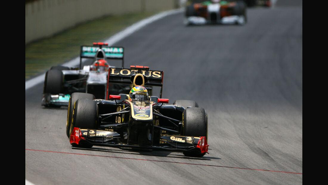 Senna vs. Schumacher GP Brasilien 2011