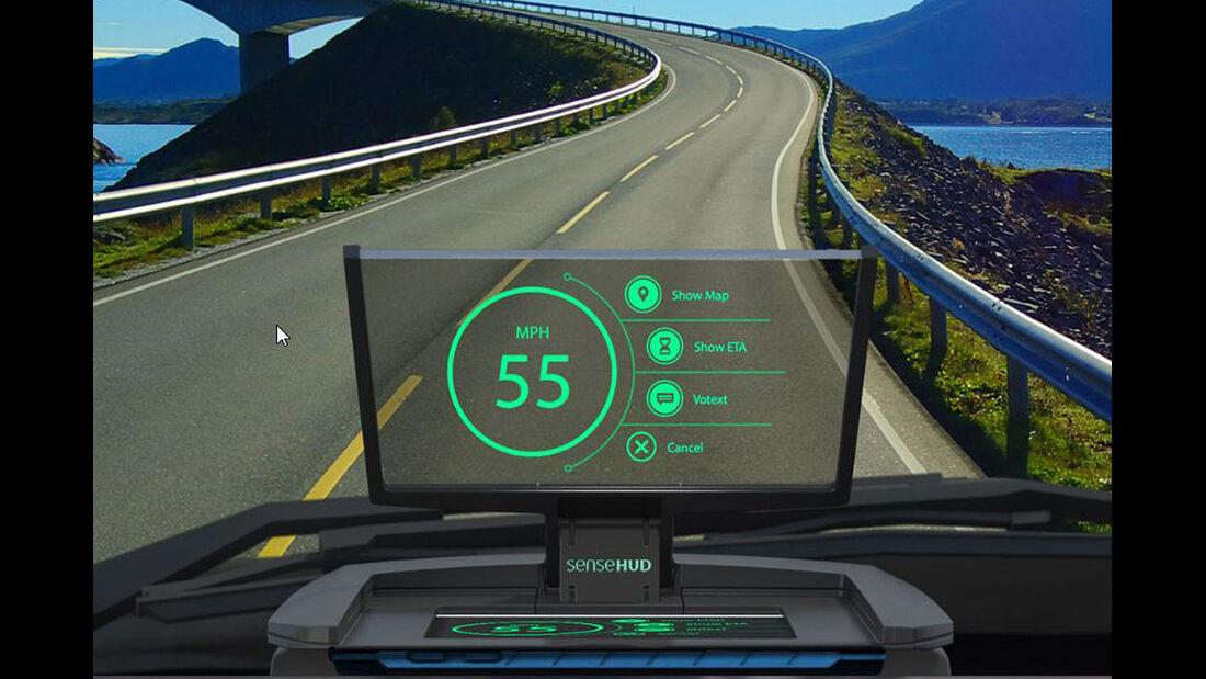 SenseDriver Head up Display CES 2015