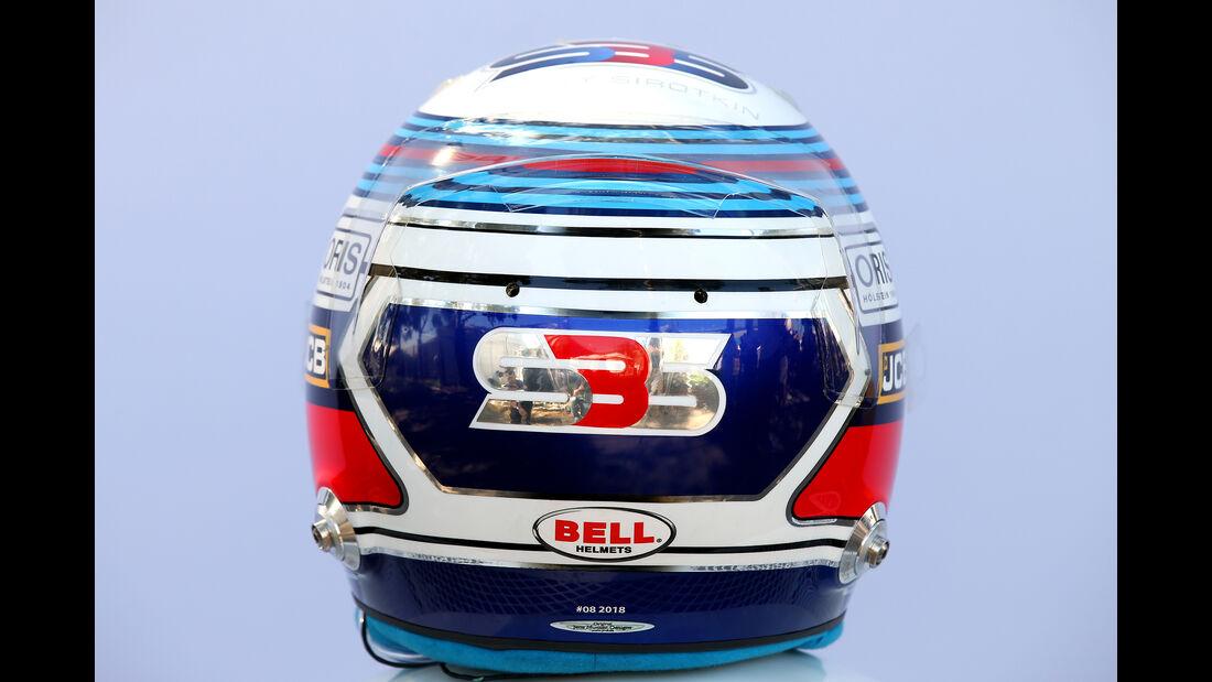 Sergey Sirotkin - Helm - Formel 1 - 2018