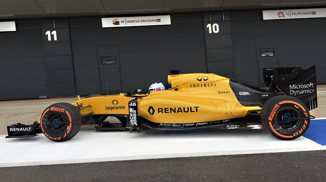 Sergey Sirotkin - Renault - Silverstone-Test - 12- Juli 2016