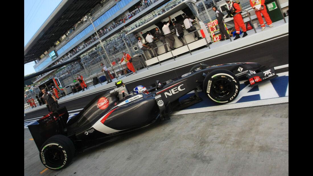 Sergey Sirotkin - Sauber - Formel 1 - GP Russland - Sochi - 10. Oktober 2014