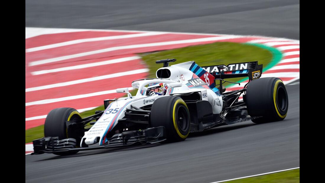 Sergey Sirotkin - Williams - F1-Test - Barcelona - Tag 2 - 27. Februar 2018
