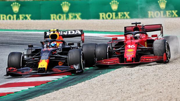 Sergio Perez - Charles Leclerc - GP Österreich 2021 - Speilberg - Rennen