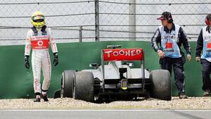 Sergio Perez Crash - Formel 1 - GP China - 12. April 2014