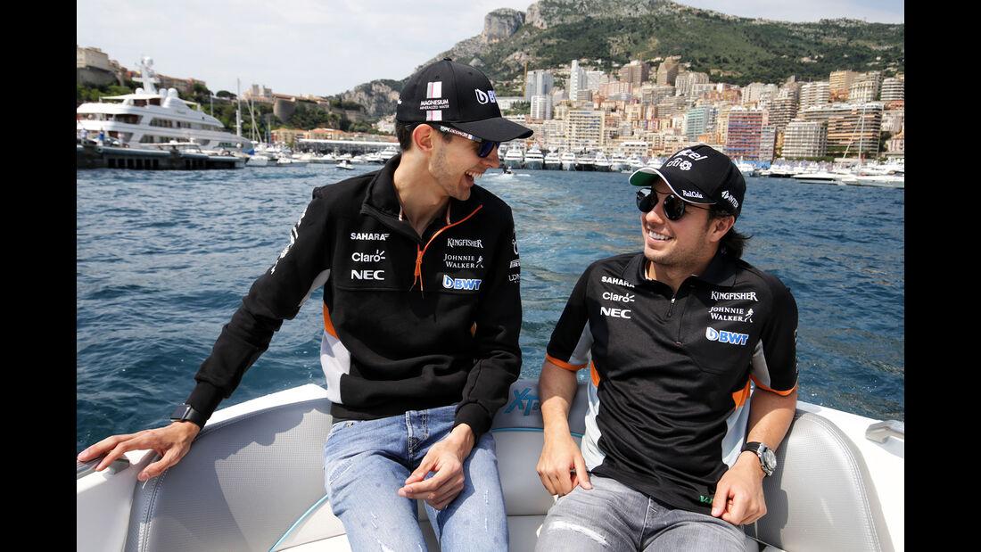 Sergio Perez & Esteban Ocon - Force India - Formel 1 - GP Monaco - 26. Mai 2017