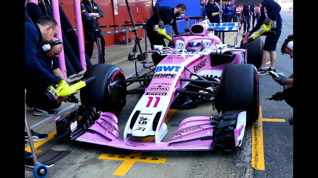 Sergio Perez - Force India - F1-Test - Barcelona - Tag 5 - 6. März 2018