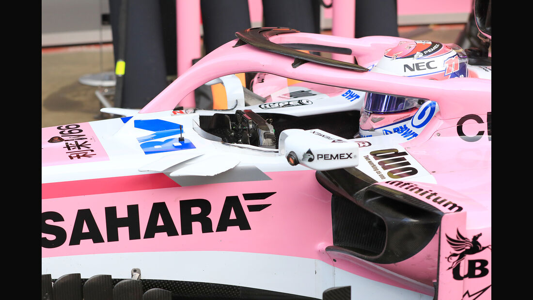 Sergio Perez - Force India - F1-Test - Barcelona - Tag 7 - 8. März 2018