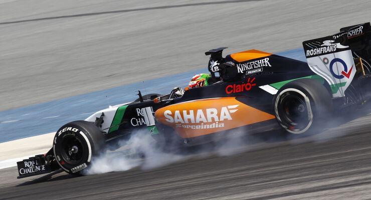 Sergio Perez - Force India - Formel 1 - Bahrain-Test 2014