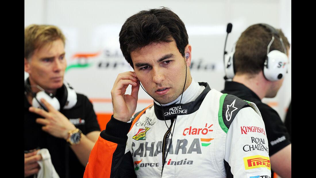 Sergio Perez - Force India - Formel 1- Bahrain - Test - 21. Februar 2014