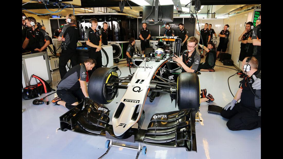 Sergio Perez - Force India - Formel 1 - GP Abu Dhabi - 27. November 2015