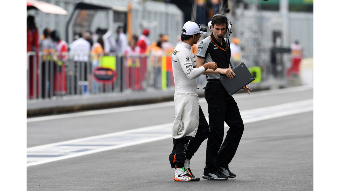 Sergio Perez - Force India - Formel 1 - GP Aserbaidschan - Baku - 17. Juni 2016