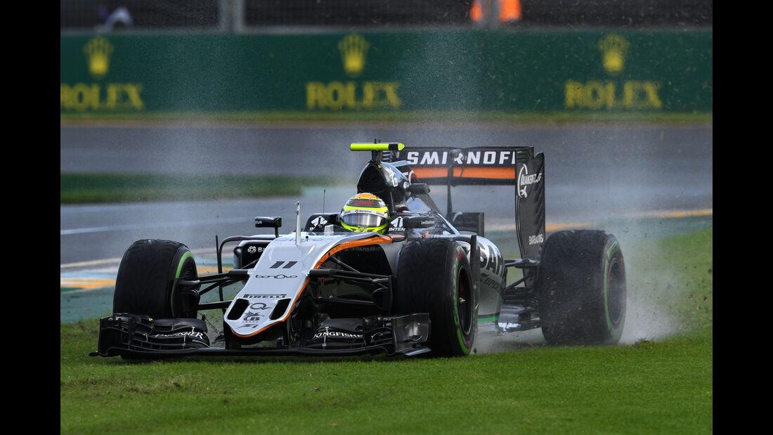 Sergio Perez - Force India - Formel 1 - GP Australien - Melbourne - 18. März 2016