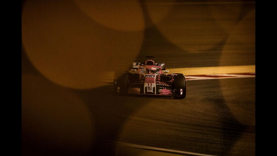 Sergio Perez - Force India - Formel 1 - GP Bahrain - 7. April 2018
