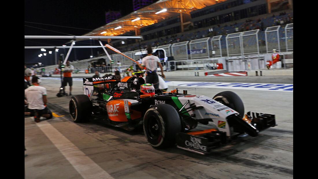 Sergio Perez - Force India - Formel 1 - GP Bahrain - Sakhir - 4. April 2014