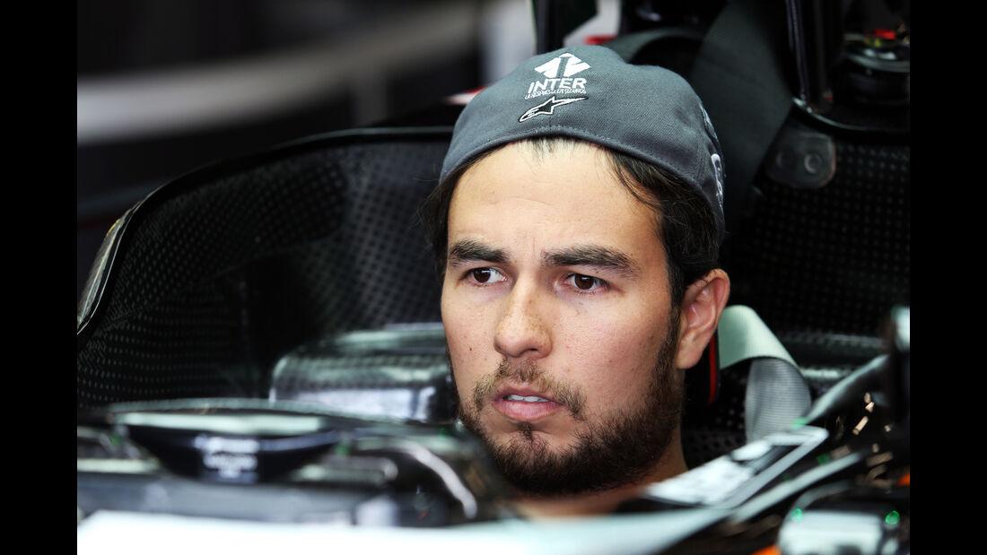 Sergio Perez - Force India - Formel 1 - GP Belgien - Spa-Francorchamps - 20. August 2015