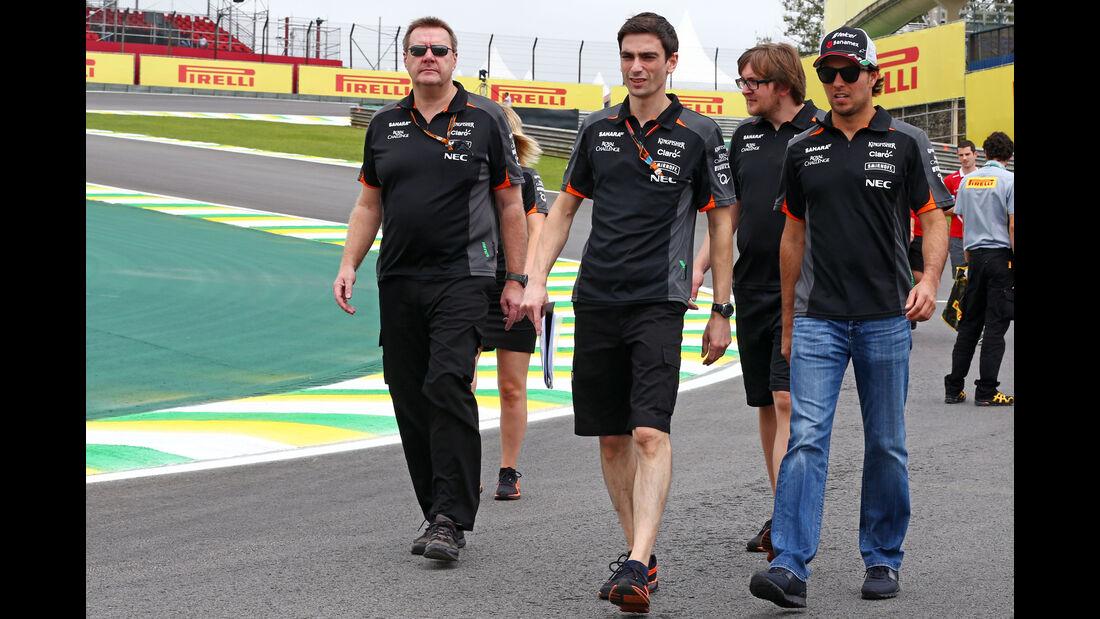 Sergio Perez - Force India - Formel 1 - GP Brasilien- 12. November 2015