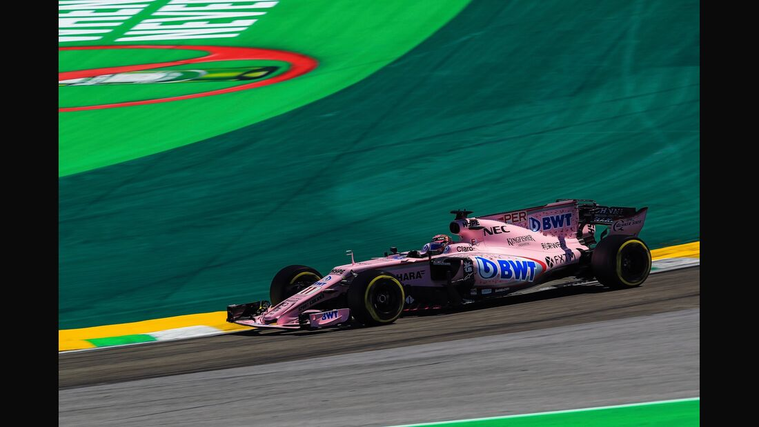Sergio Perez - Force India - Formel 1 - GP Brasilien - 12. November 2017