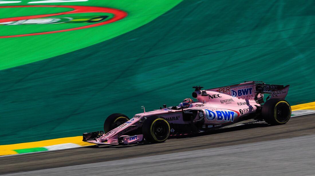 Sergio Perez - Force India - Formel 1 - GP Brasilien - 12. November 2017