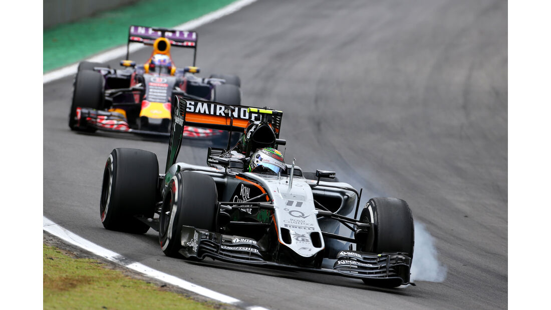 Sergio Perez - Force India - Formel 1 - GP Brasilien- 15. November 2015