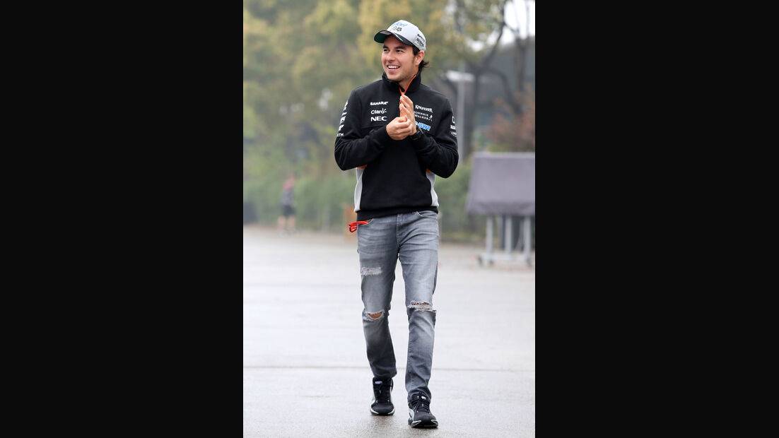 Sergio Perez - Force India - Formel 1 - GP China 2017 - Shanghai - 7.4.2017