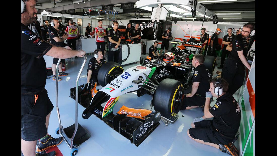 Sergio Perez - Force India - Formel 1 - GP Deutschland - Hockenheim - 18. Juli 2014