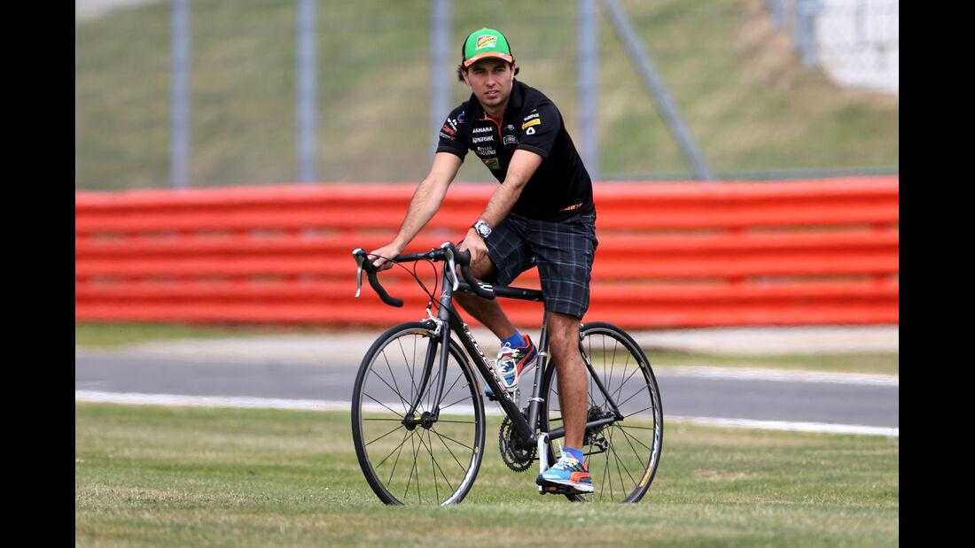 Sergio Perez - Force India - Formel 1 - GP England - Silverstone - 3. Juli 2014