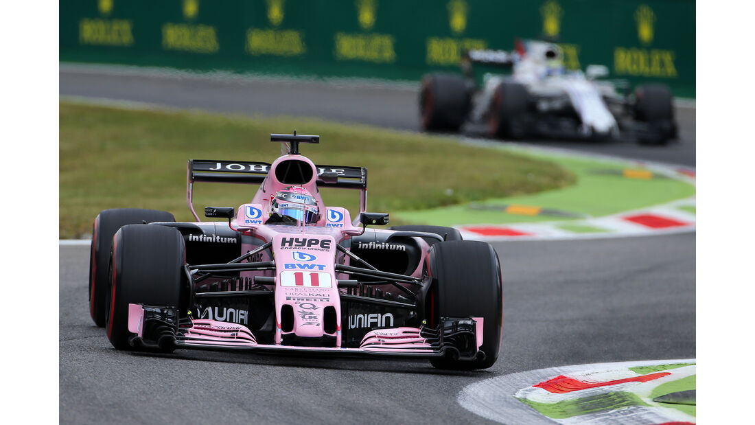 Sergio Perez - Force India - Formel 1 - GP Italien - Monza - 1. September 2017