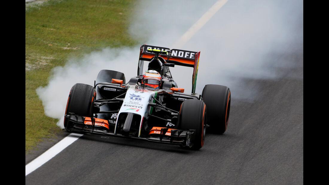 Sergio Perez - Force India - Formel 1 - GP Japan - Suzuka - 4. Oktober 2014
