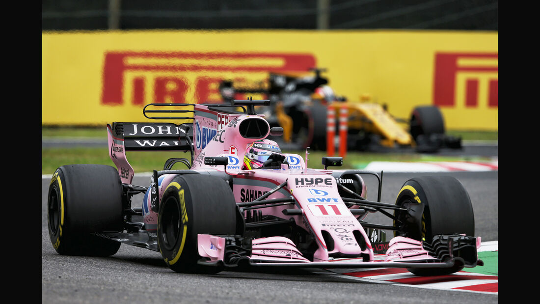 Sergio Perez - Force India - Formel 1 - GP Japan - Suzuka - 6. Oktober 2017