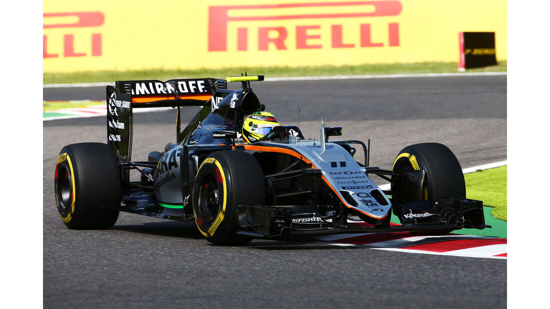 Sergio Perez - Force India - Formel 1 - GP Japan - Suzuka - Freitag - 7.10.2016