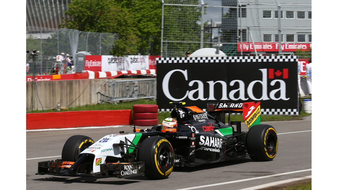 Sergio Perez - Force India - Formel 1 - GP Kanada - Montreal - 6. Juni 2014