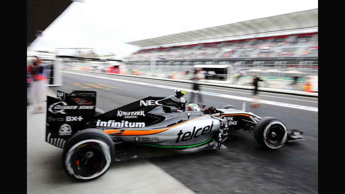 Sergio Perez - Force India - Formel 1 - GP Mexiko - 31. Oktober 2015