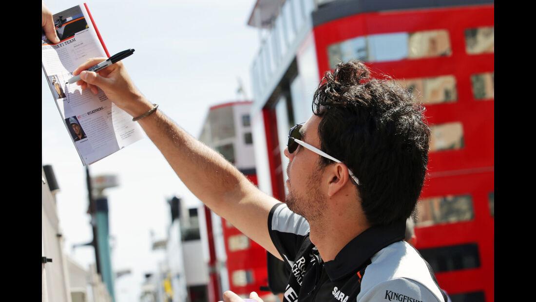 Sergio Perez - Force India - Formel 1 - GP Monaco - 25. Mai 2016