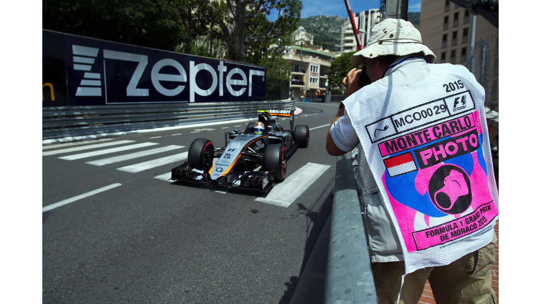 Sergio Perez - Force India - Formel 1 - GP Monaco - Samstag - 23. Mai 2015
