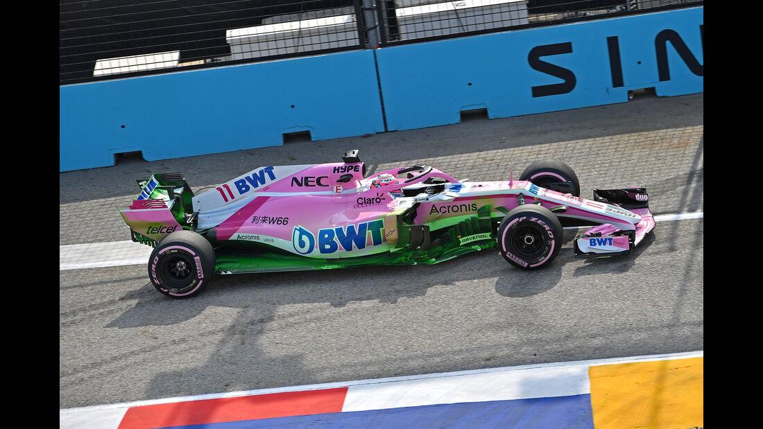 Sergio Perez - Force India - Formel 1 - GP Singapur - 14. September 2018