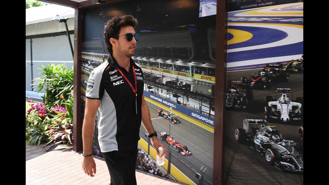 Sergio Perez - Force India - Formel 1 - GP Singapur - 15. Septemberg 2016