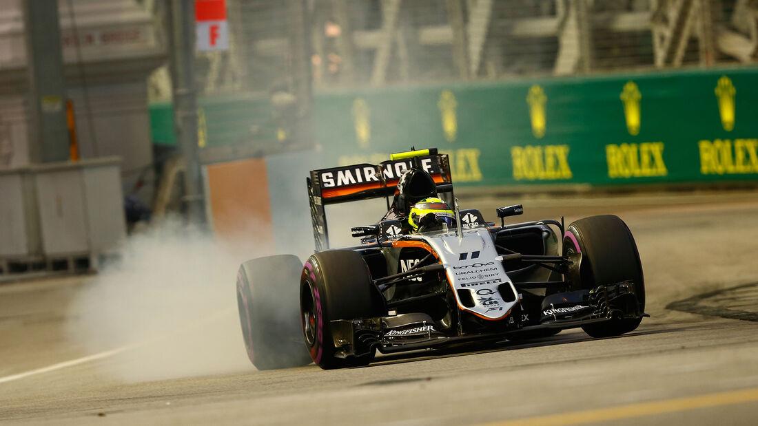 Sergio Perez - Force India - Formel 1 - GP Singapur - 17. September 2016