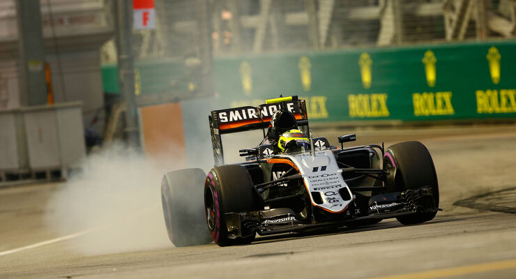 Sergio Perez - Force India - Formel 1 - GP Singapur - 17. September 2016