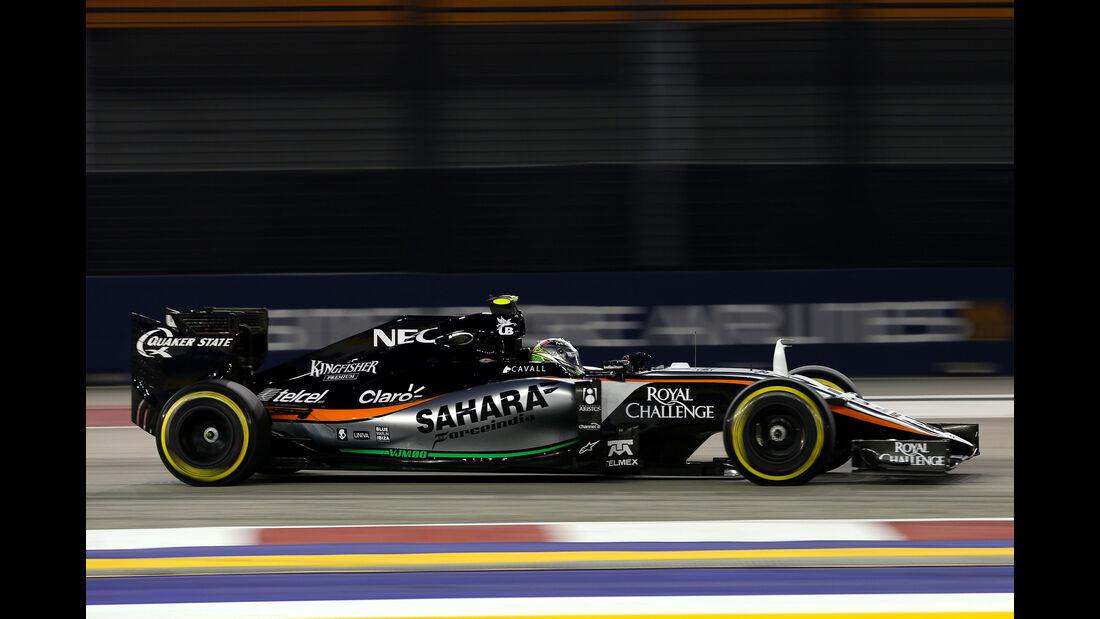 Sergio Perez - Force India - Formel 1 - GP Singapur - 18. September 2015