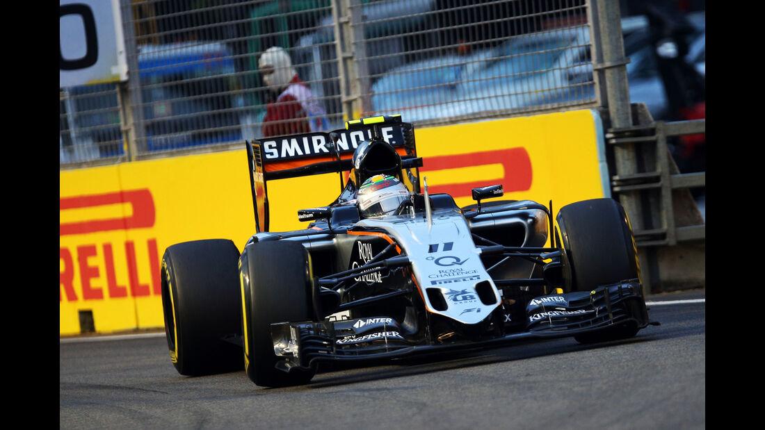 Sergio Perez - Force India - Formel 1 - GP Singapur - 20. September 2015