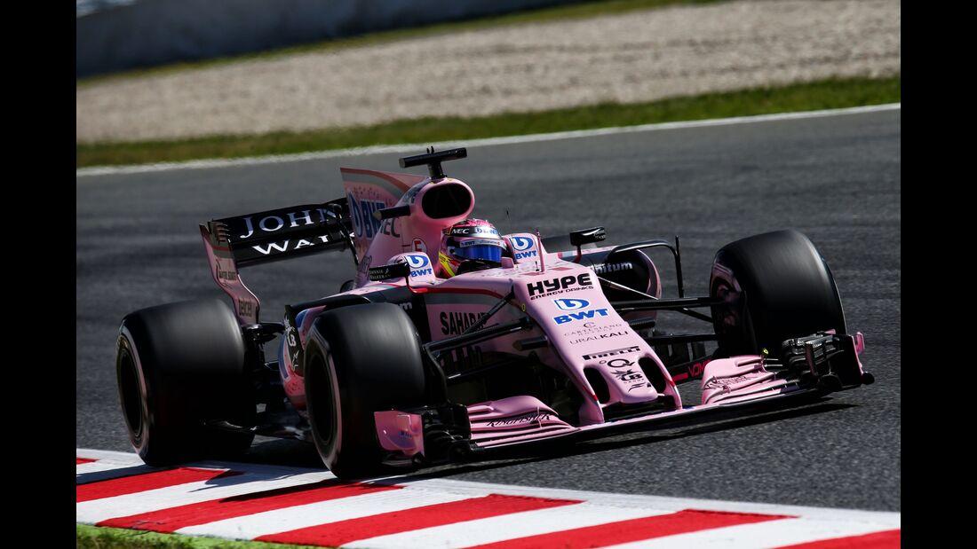 Sergio Perez - Force India - Formel 1 - GP Spanien - 13. Mai 2017