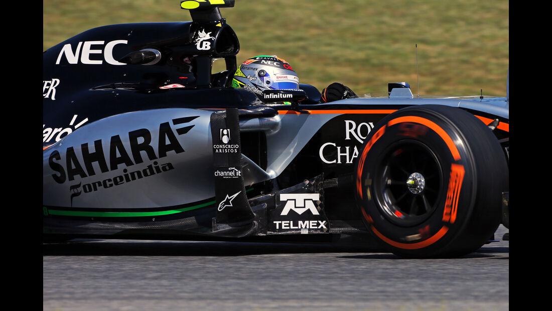 Sergio Perez - Force India - Formel 1 - GP Spanien - Barcelona - 8. Mai 2015