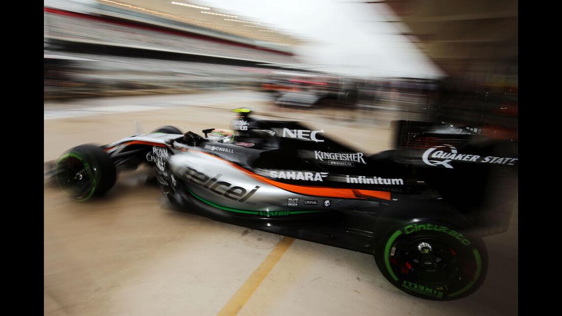Sergio Perez - Force India - Formel 1 - GP USA - Austin - 23. Oktober 2015