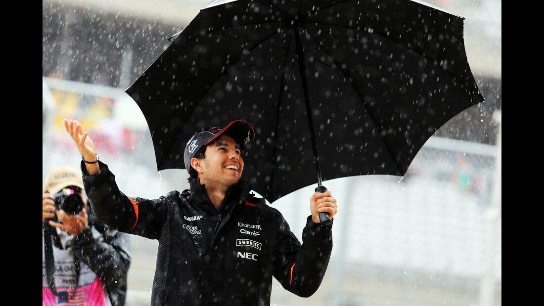 Sergio Perez - Force India - Formel 1 - GP USA - Austin - Formel 1 - 24. Oktober 2015